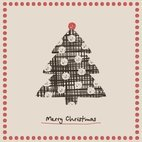 Small 1x christmas tree card