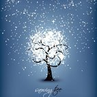 Small 1x snowing tree
