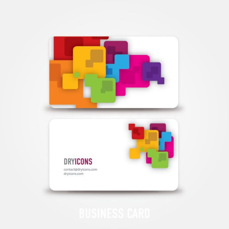 Abstract business card 9027 dryicons for Clipart for business cards