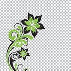 Small 1x transparent flower