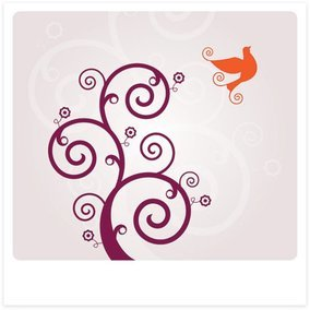 Swirly Bird Vector