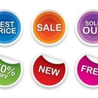 Small 1x sale stickers set