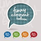 Small 1x funny comment balloon