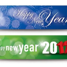Happy New Year Banners