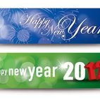 Small 1x happy new year banners