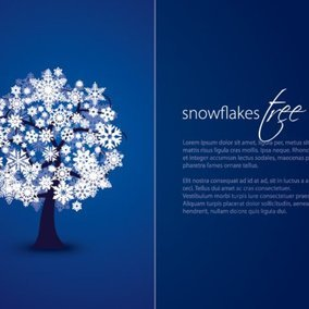 Snowflakes Tree Card