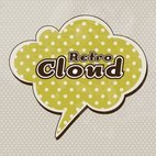 Small 1x retro cloud background