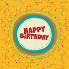 Small 1x colorful birthday card