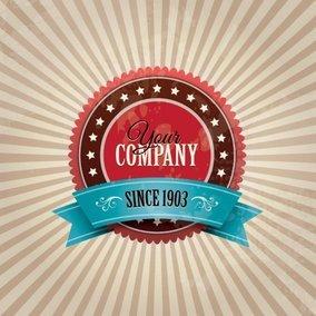 Vintage Company Badge