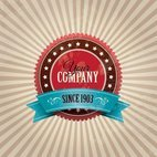 Small 1x vintage company badge