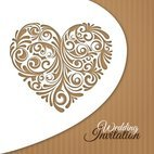 Small 1x wedding invitation card