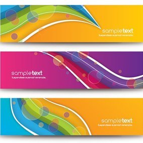 Colorful Abstract Banners