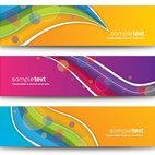 Small 1x colorful abstract banners