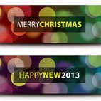 Small 1x christmas and new year banners