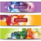 Small 1x beautiful vector banners