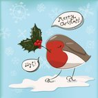 Small 1x christmas robin