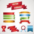Small 1x vector ribbons