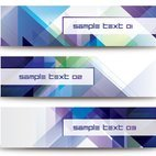 Small 1x abstract diagonal banners