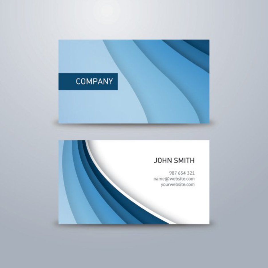 Corporate Blue Business Card - 9635 - Dryicons