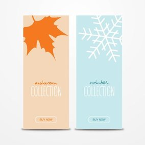 Autumn Winter Banners