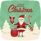 Small 1x santa and rudolph