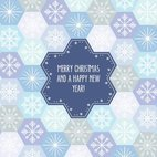 Small 1x snowflake pattern card