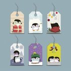 Small 1x penguin tags