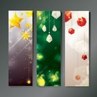 Small 1x christmas decoration banners