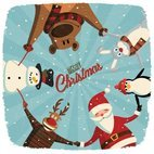 Small 1x cute christmas card