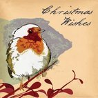 Small 1x christmas robin card