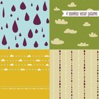 Small 1x cute vector patterns