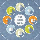 Small 1x flat travel icons