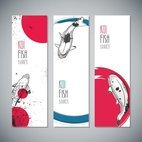 Small 1x koi fish banners