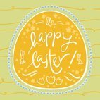 Small 1x happy easter card