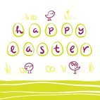 Small 1x happy easter greeting card