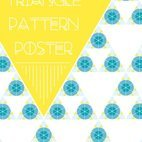 Small 1x triangle pattern poster