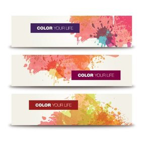 Splashed Color Banners