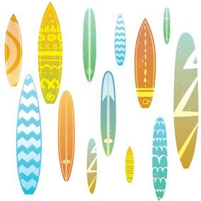 Surfboard Seamless Pattern