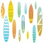 Small 1x surfboard seamless pattern
