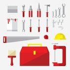 Small 1x tools flat icons