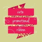 Small 1x cute promotional ribbon