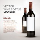 Small 1x wine bottle mockup