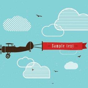 Vintage Airplane Banner