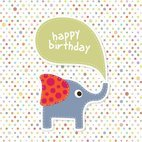 Small 1x elephant birthday card