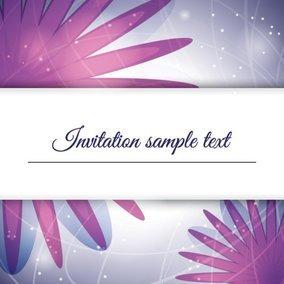 Purple Invitation
