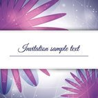 Small 1x purple invitation