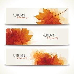 Minimal Autumn Banners