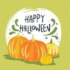 Small 1x happy halloween card