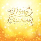 Small 1x golden christmas card