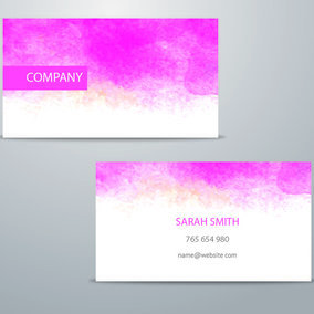 Watercolor business card template 9979 dryicons watercolor business card template maxwellsz